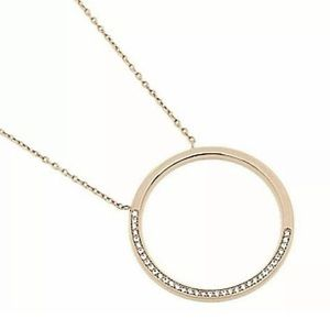 Michael Kors Gold Open Circle  Pendant Necklace